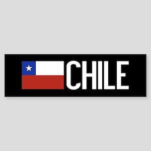 Chile: Chilean Flag & Chile Sticker (Bumper)