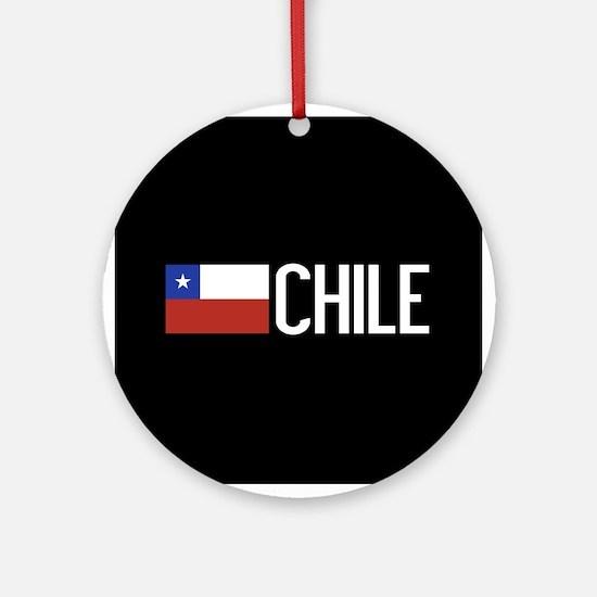 Chile: Chilean Flag & Chile Round Ornament