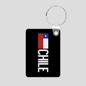 Chile: Chilean Flag & Chil Aluminum Photo Keychain