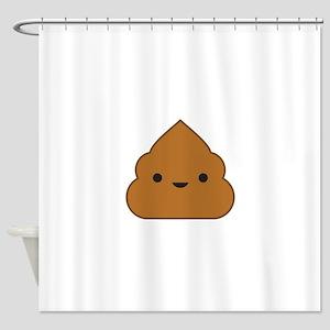 Kawaii Poop Shower Curtain