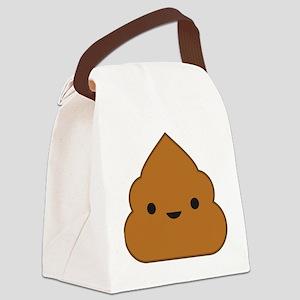 Kawaii Poop Canvas Lunch Bag
