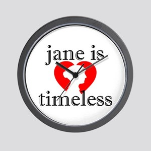 Jane is Timeless - Silhouette Wall Clock