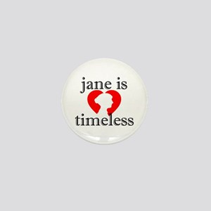 Jane is Timeless - Silhouette Mini Button