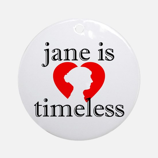 Jane is Timeless - Silhouette Ornament (Round)