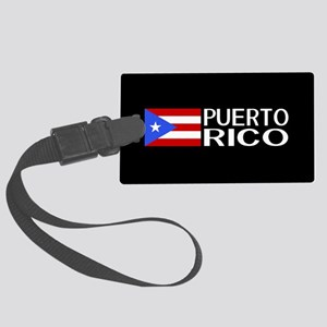 Puerto Rico: Puerto Rican Flag & Large Luggage Tag