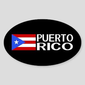 Puerto Rico: Puerto Rican Flag & Pu Sticker (Oval)
