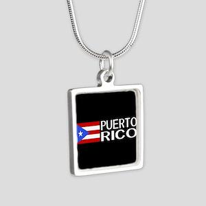 Puerto Rico: Puerto Rican Silver Square Necklace