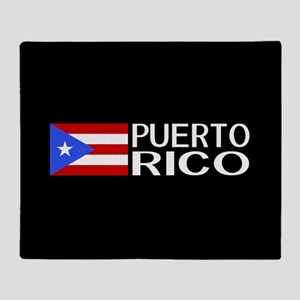 Puerto Rico: Puerto Rican Flag & Pue Throw Blanket