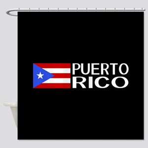 Puerto Rico: Puerto Rican Flag & Pu Shower Curtain