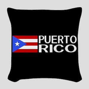 Puerto Rico: Puerto Rican Flag Woven Throw Pillow