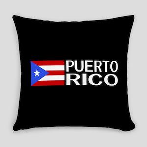 Puerto Rico: Puerto Rican Flag & P Everyday Pillow