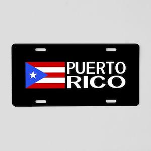 Puerto Rico: Puerto Rican F Aluminum License Plate