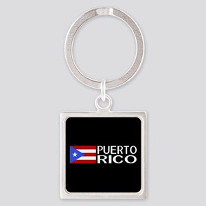Puerto Rico: Puerto Rican Flag & P Square Keychain