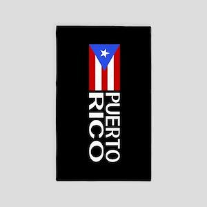 Puerto Rico: Puerto Rican Flag & Puerto R Area Rug