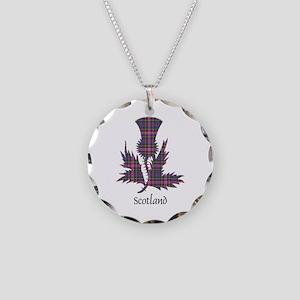 Thistle - Scotland Necklace Circle Charm