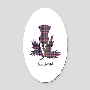 Thistle - Scotland Oval Car Magnet