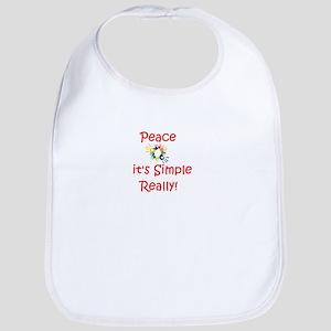 Peace...It's Simple Bib