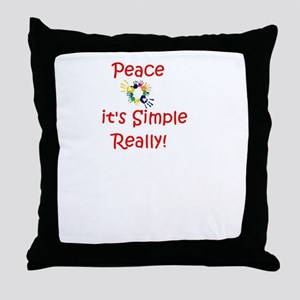 Peace...It's Simple Throw Pillow