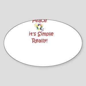 Peace...It's Simple Oval Sticker