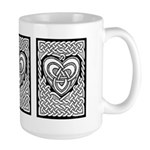 Celtic Knotwork Heart Large Mug