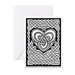Celtic Knotwork Heart Greeting Cards (10)