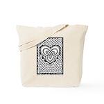 Celtic Knotwork Heart Tote Bag