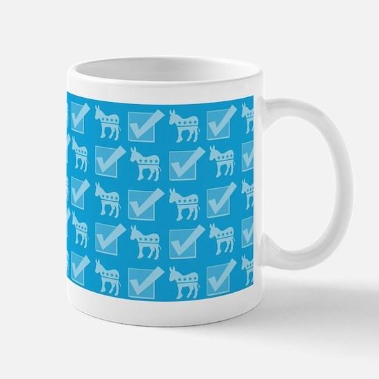 Vote Blue Pattern Mugs