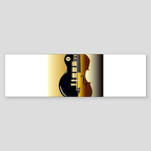 Fiddle Guitar Morph Bumper Sticker
