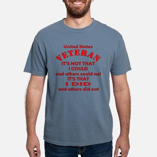 US Vet I Did Because T-Shirt