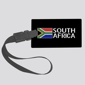 South Africa: South African Flag Large Luggage Tag