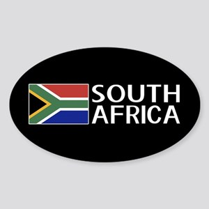 South Africa: South African Flag & Sticker (Oval)