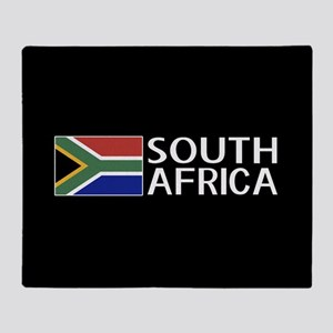 South Africa: South African Flag & S Throw Blanket