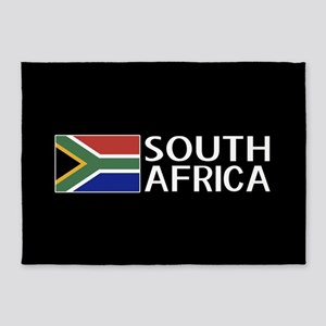 South Africa: South African Flag & 5'x7'Area Rug