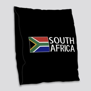 South Africa: South African Fl Burlap Throw Pillow