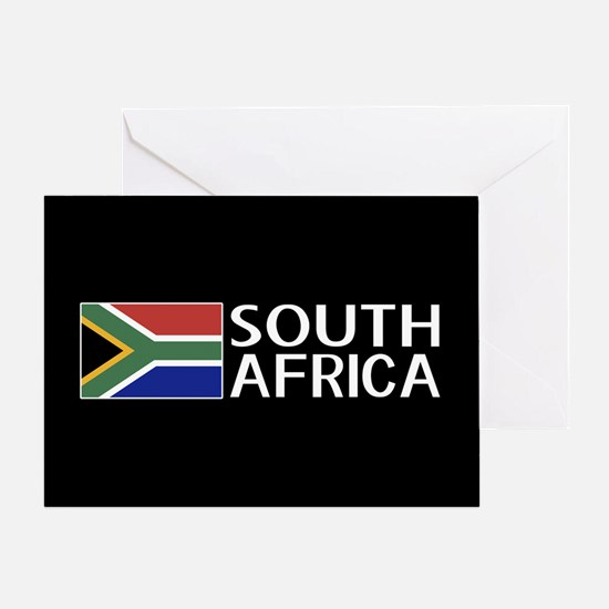 South Africa: South African Flag & S Greeting Card