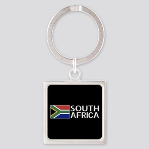 South Africa: South African Flag & Square Keychain