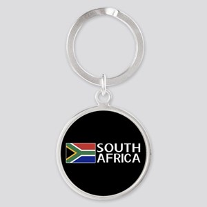 South Africa: South African Flag & Round Keychain