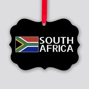 South Africa: South African Flag Picture Ornament