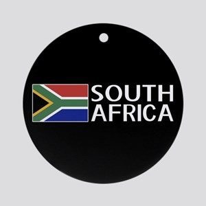 South Africa: South African Flag & Round Ornament
