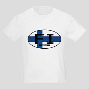 Finland Full Flag Kids Light T-Shirt