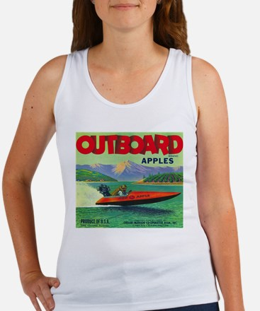 Outboard Apple - Vintage Crate Label Tank Top