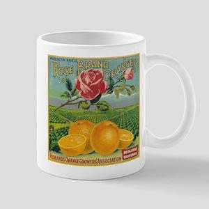 Rose Orange - Vintage Label Mugs