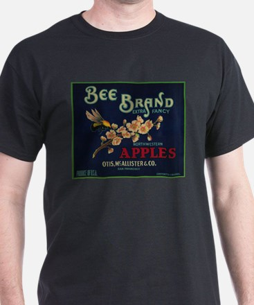 Bee Apple - Vintage Crate Label T-Shirt