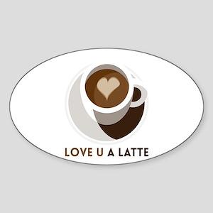 Love U a LATTE Sticker