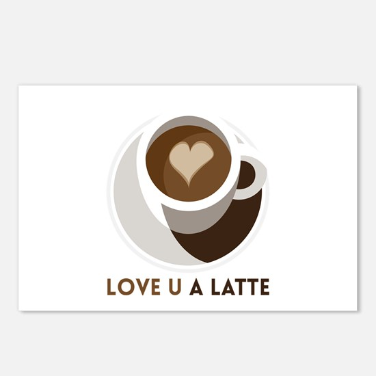 Love U a LATTE Postcards (Package of 8)