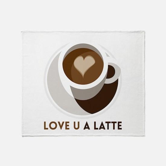 Love U a LATTE Throw Blanket