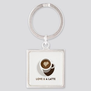 Love U a LATTE Keychains