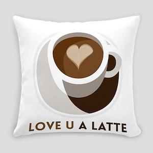 Love U a LATTE Everyday Pillow