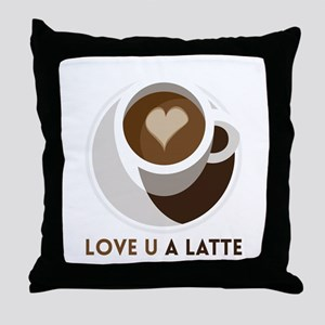 Love U a LATTE Throw Pillow