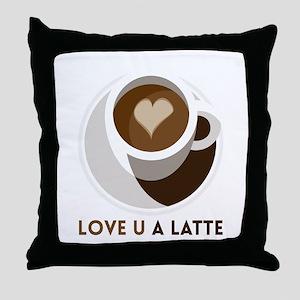 Love U a LATTE Throw Pillow